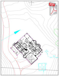 PDF siteplan with house  1st floor